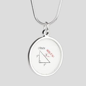 Find X Silver Round Necklace