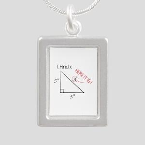 Find X Silver Portrait Necklace