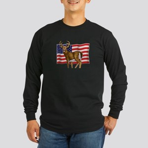American White Tail Deer Buck Long Sleeve T-Shirt