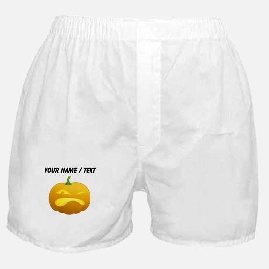 Custom Annoyed Jackolantern Boxer Shorts