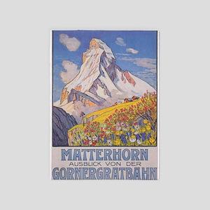 Matterhorn Vintage Travel Poster 5'x7'area