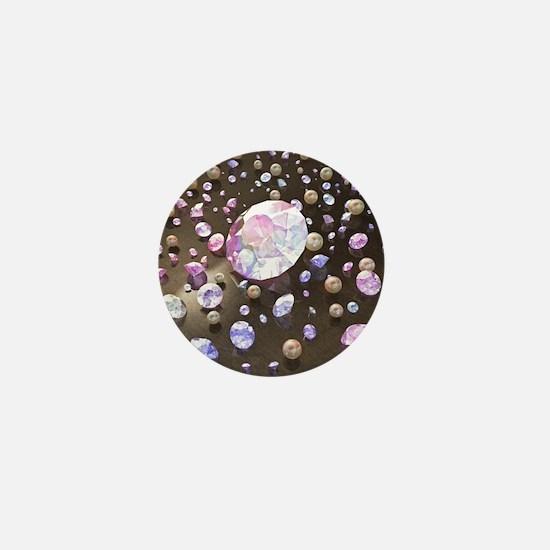 Diamonds and Pearls Mini Button