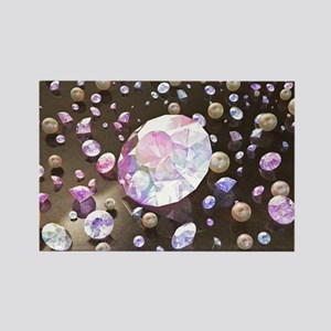 Diamonds and Pearls Rectangle Magnet