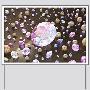 Diamonds and Pearls Yard Sign