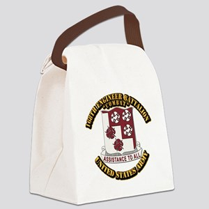 DUI - 168th Engineer Bn w Text Canvas Lunch Bag