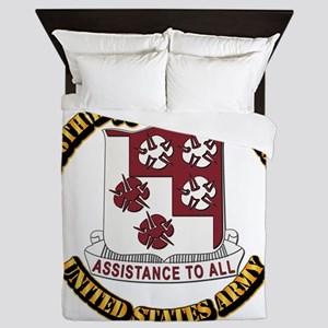 DUI - 168th Engineer Bn w Text Queen Duvet