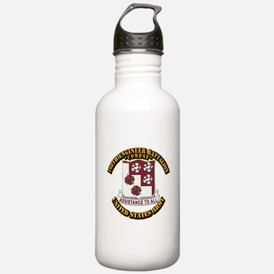 DUI - 168th Engineer Bn w Text Water Bottle