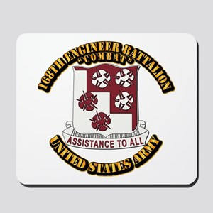 DUI - 168th Engineer Bn w Text Mousepad