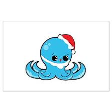 Santa Octopus Posters
