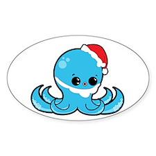 Santa Octopus Sticker