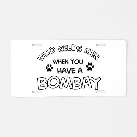Bombay cat design Aluminum License Plate