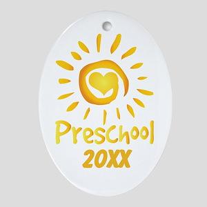 Personalized Preschool Ornament (Oval)