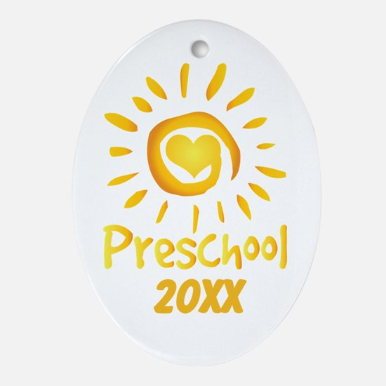 Personalized Preschool Ornament (Oval)