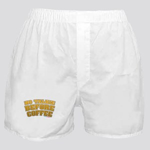 No Talkie Before Coffee Boxer Shorts