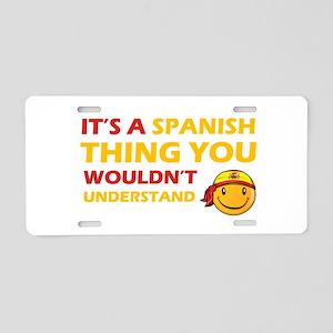 Spanish smiley designs Aluminum License Plate