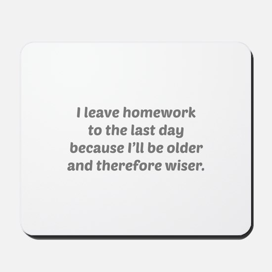 I Leave Homework To The Last Day Mousepad