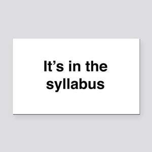 It's In The Syllabus Rectangle Car Magnet