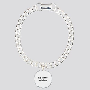 It's In The Syllabus Charm Bracelet, One Charm