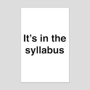 It's In The Syllabus Mini Poster Print