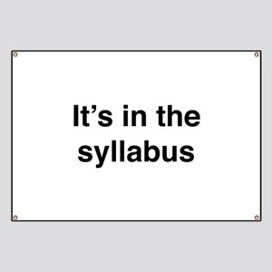 It's In The Syllabus Banner