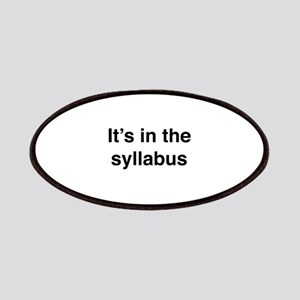 It's In The Syllabus Patches