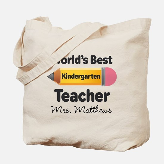 Personalized Kindergraten Teacher Tote Bag