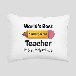 Personalized Kindergraten Teacher Rectangular Canv