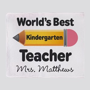 Personalized Kindergraten Teacher Throw Blanket