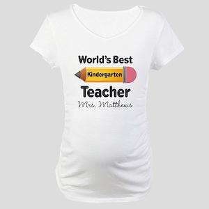 Personalized Kindergraten Teacher Maternity T-Shir