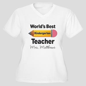 Personalized Kindergraten Teacher Plus Size T-Shir