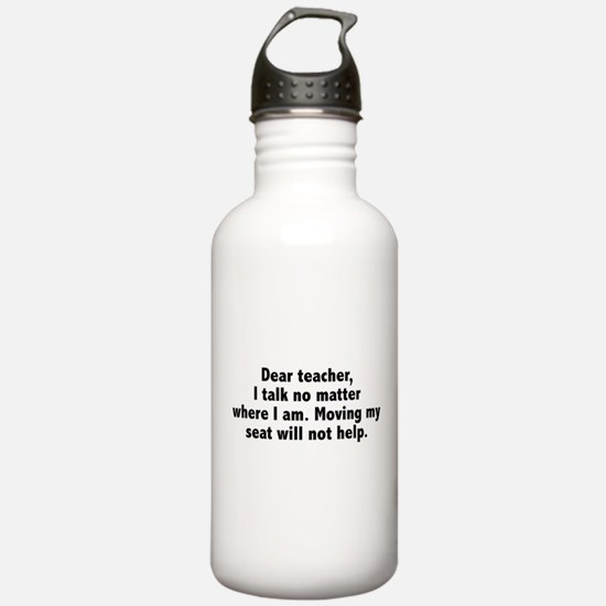 Dear Teacher Water Bottle