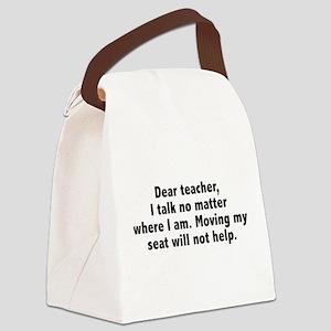 Dear Teacher Canvas Lunch Bag