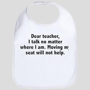 Dear Teacher Bib