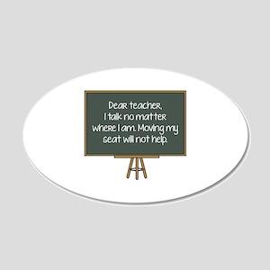 Dear Teacher 22x14 Oval Wall Peel