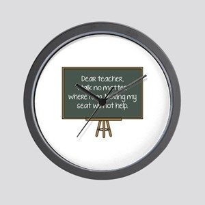 Dear Teacher Wall Clock