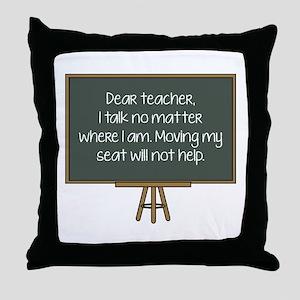 Dear Teacher Throw Pillow