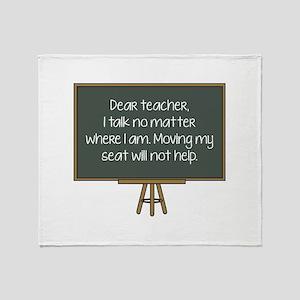 Dear Teacher Stadium Blanket
