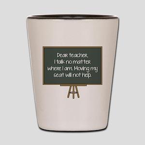 Dear Teacher Shot Glass