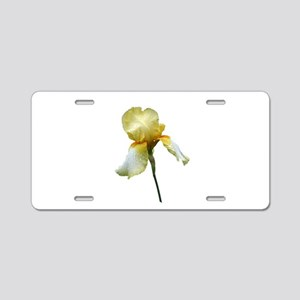 Yellow Snapdragon Aluminum License Plate