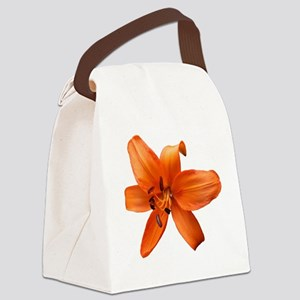 Orange Lilly Canvas Lunch Bag