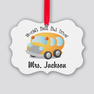 Personalized Bus Driver Ornament