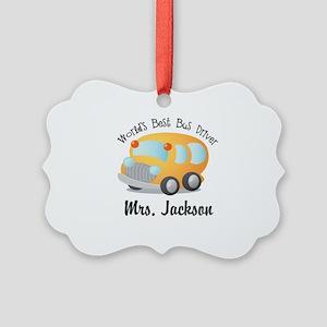 Personalized Bus Driver Ornament
