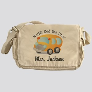 Personalized Bus Driver Messenger Bag