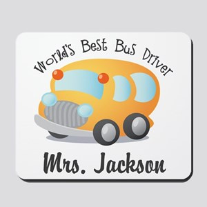 Personalized Bus Driver Mousepad