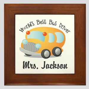 Personalized Bus Driver Framed Tile