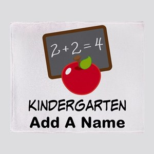 Personalized Kindergarten Throw Blanket