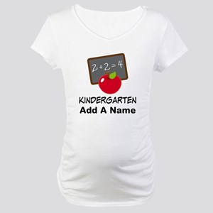 Personalized Kindergarten Maternity T-Shirt