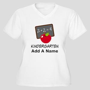 Personalized Kindergarten Plus Size T-Shirt