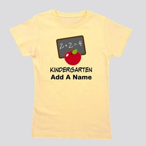 Personalized Kindergarten Girl's Tee