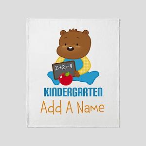 Kindergarten Personalized bear Throw Blanket